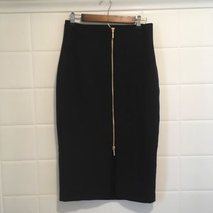 Worthington pencil skirt with exposed front zipper